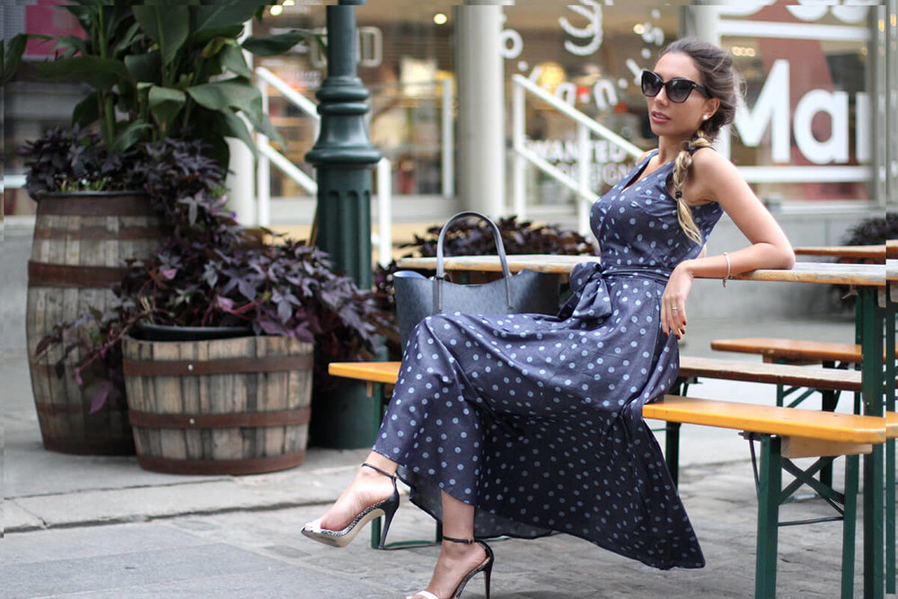 eShakti review. Custom polka dot dress