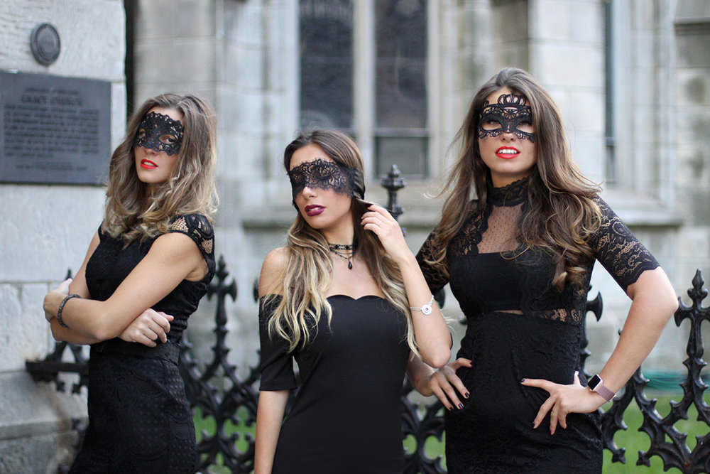 Three New York City Bloggers unite in the photoshoot for Halloween.