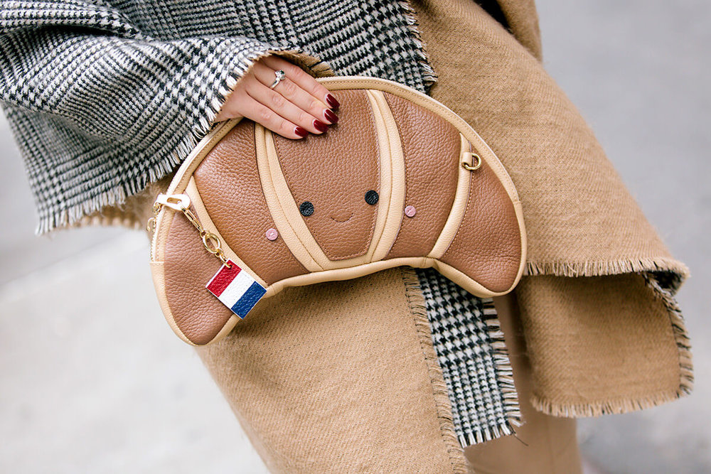 Croissant Bag by Patricia Chang. Blogger outfits.