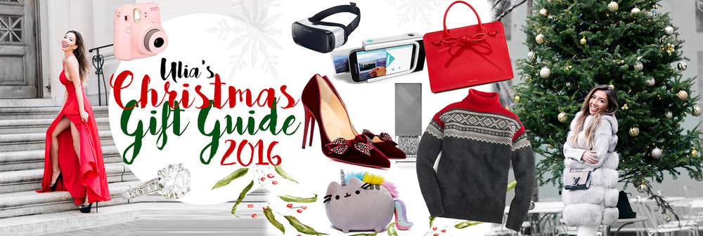 Christmas Gift Guide and Valentine's day gift ideas for her and him 2017. Blogger's shopping guide.