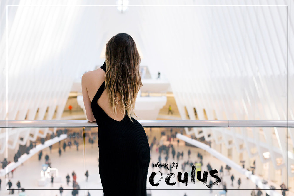 Oculus WTC by the architect Santiago Calatrava in New York. Photoshoot by blogger Ulia Ali.