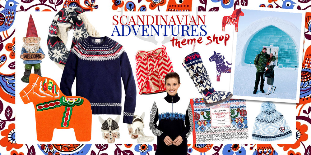 Scandinavian Adventures Theme Shop. Nordic Fashion and Accessories. Norway, Sweden, Denmark.