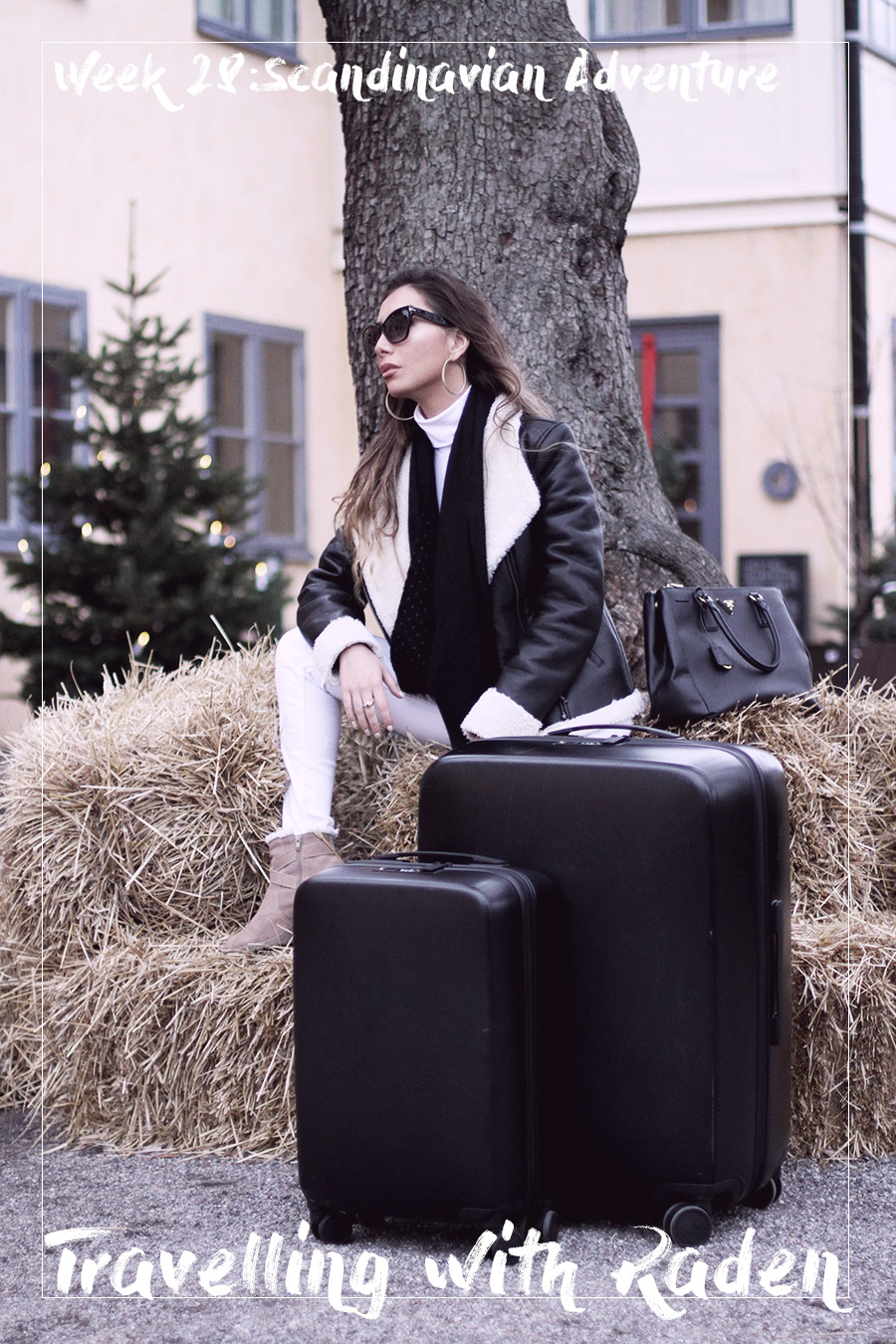 Raden luggage review by blogger. Stockholm travels.