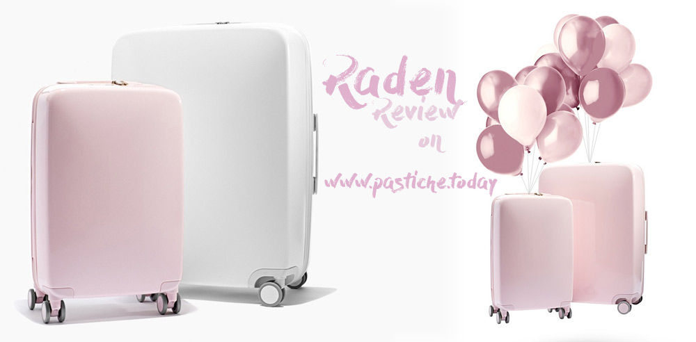 Raden pink set of luggage.
