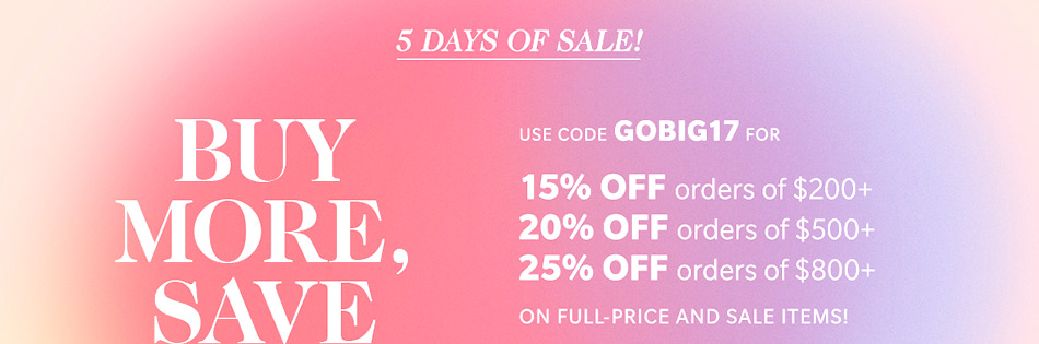 Sale on ShopBop alert 2017