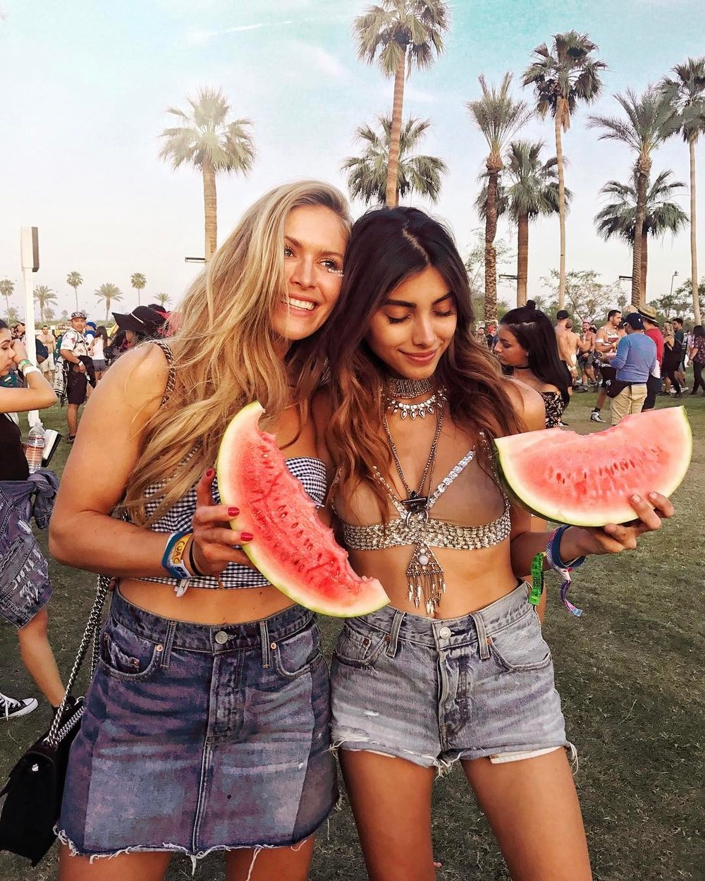 Maja Malnar with another Azerbaijani born blogger (yay!) Ruslana Gee. Coachella Looks 2017.