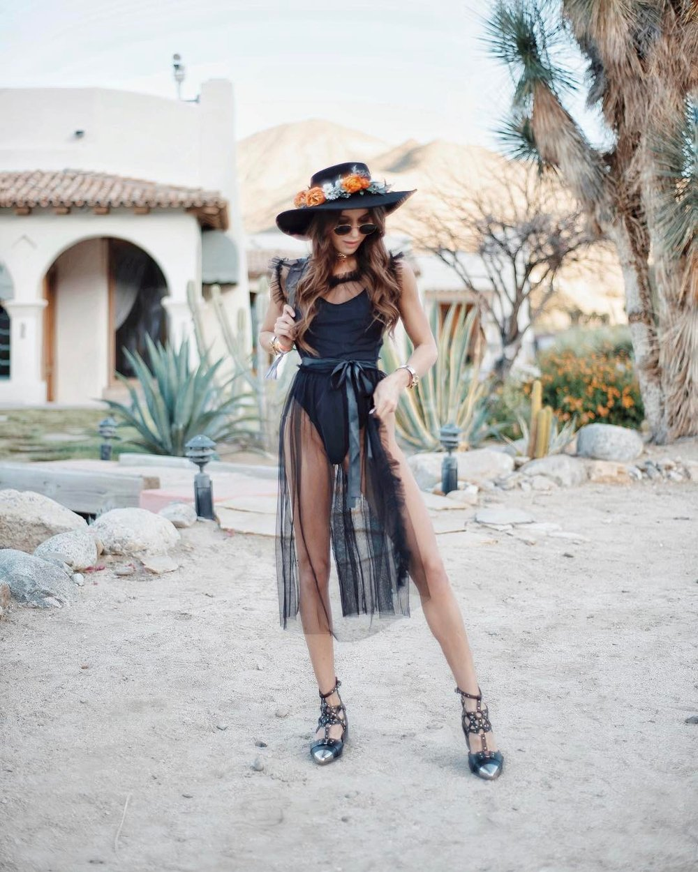 Beautiful Mary Leest. One of the best Coachella looks of 2017.