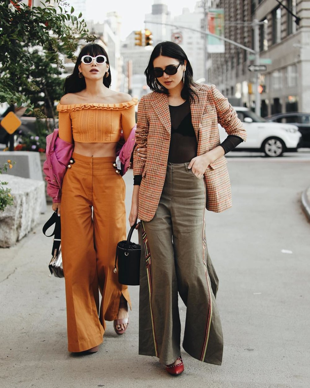 Suarez sisters, Natalie and Dylan rocking interesting looks during NYFW.