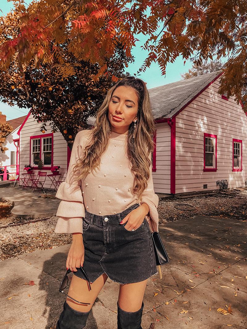 Pink shein sweater