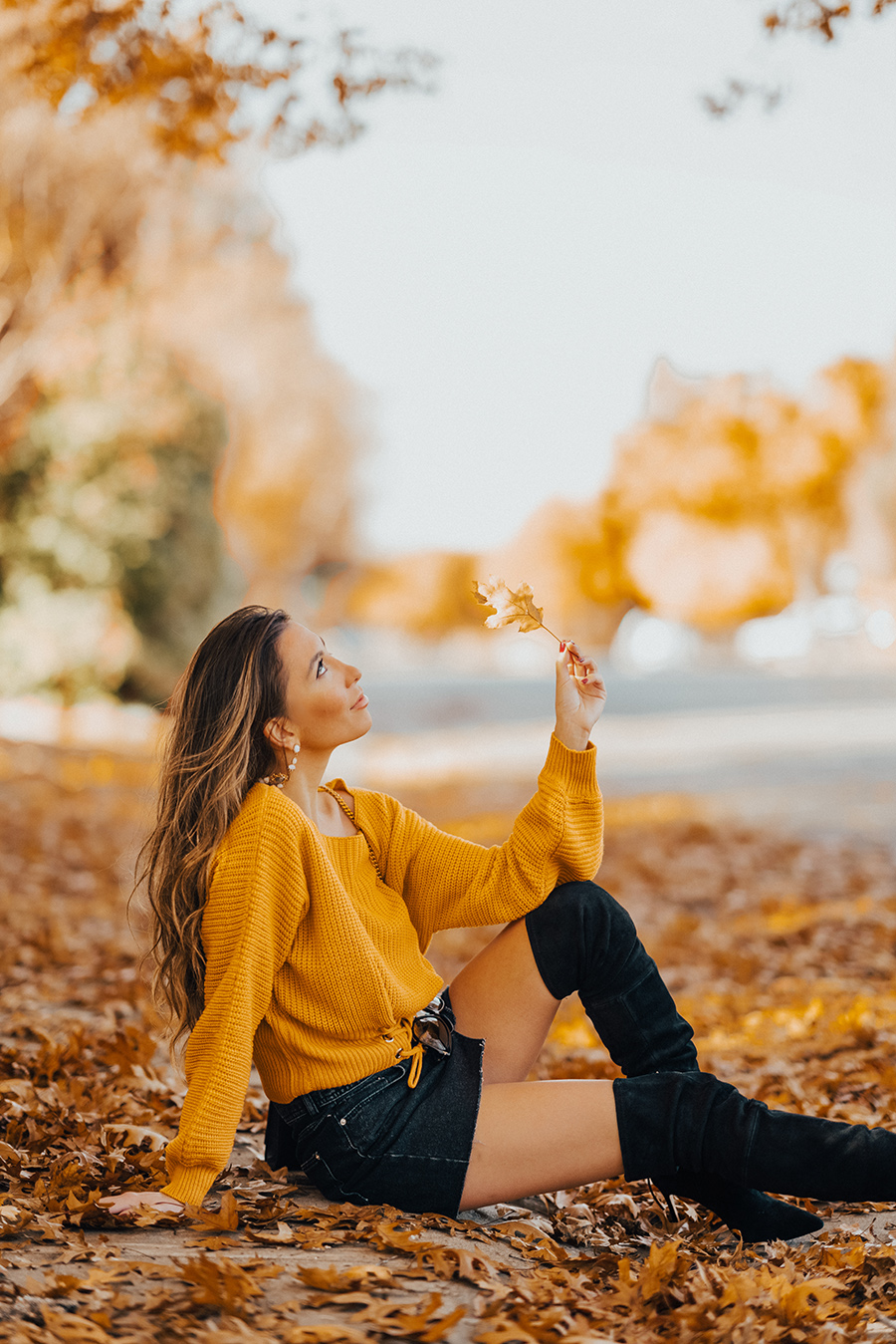 Mustard Outfit in Fall
