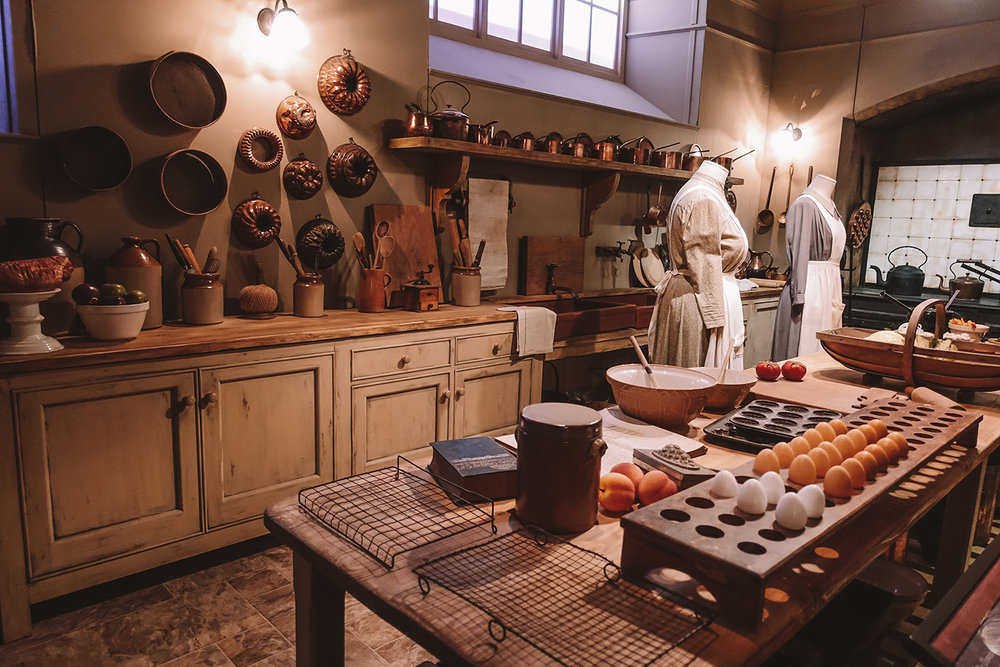 Mrs Patmore's kitchen. Downton Abbey exhibition in New York.