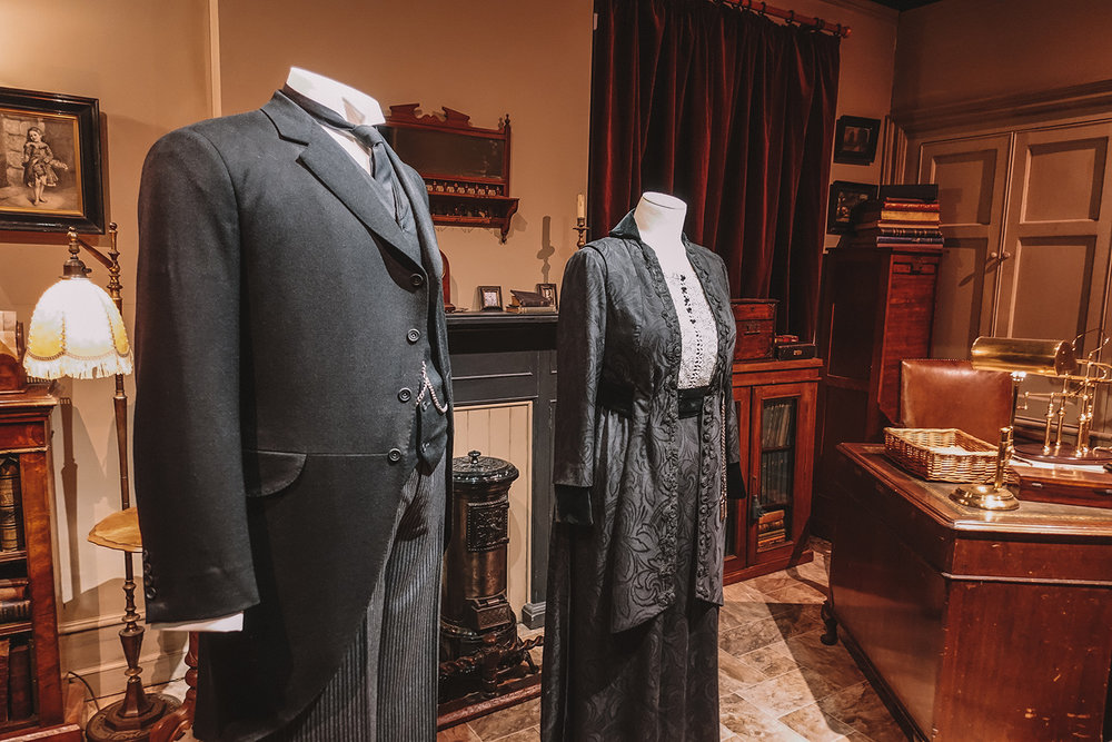 Downton Abbey cast's costumes on display in New York.
