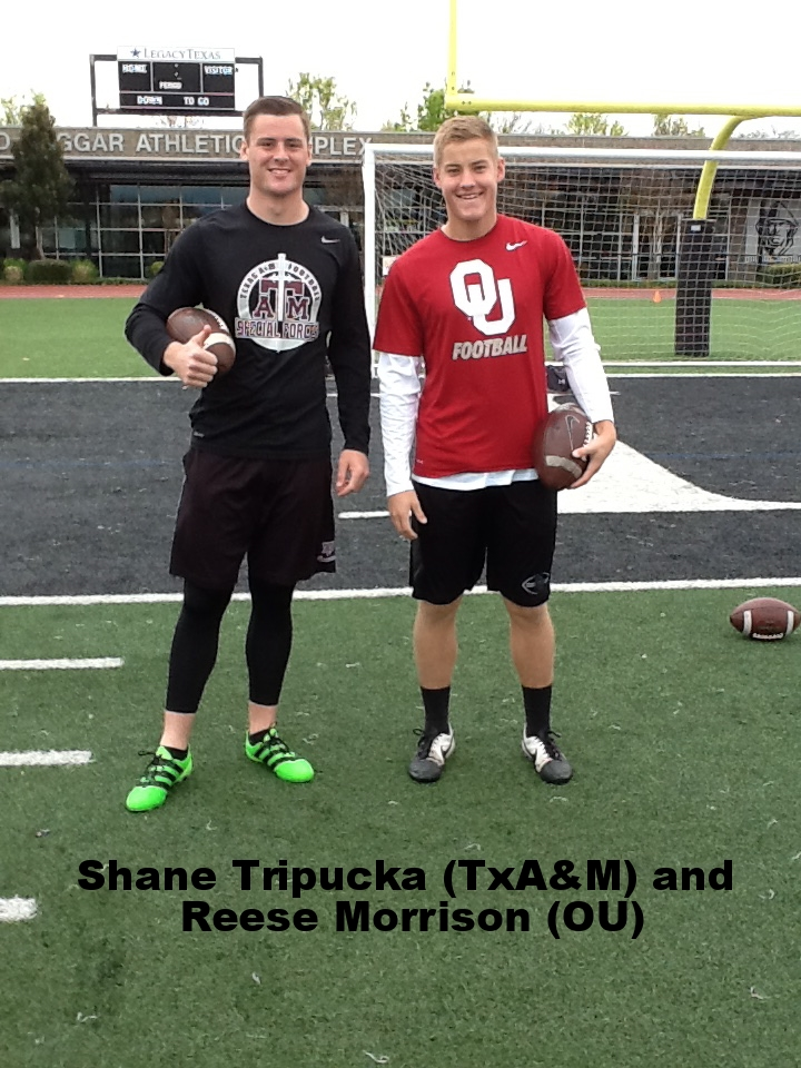 Shane Tripucka (Tx A&M) and Reese Morrison (OU)