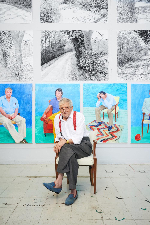 David Hockney, Artist, Los Angeles, California, 2013