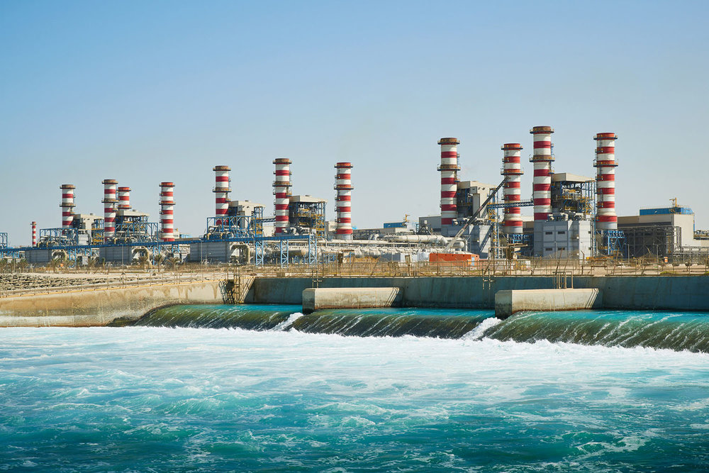 Jebel Ali Power and Desalination Plant on the coast of Dubai