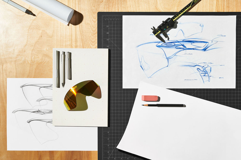 The drawing table at Oakley Headquarters
