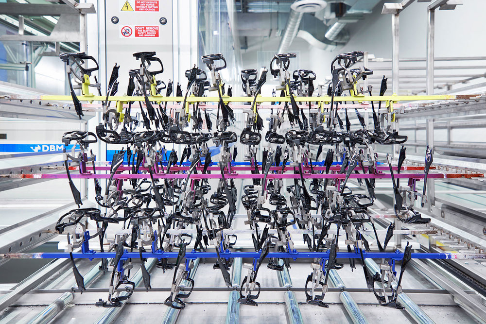 Assembly line at Oakley Headquarters