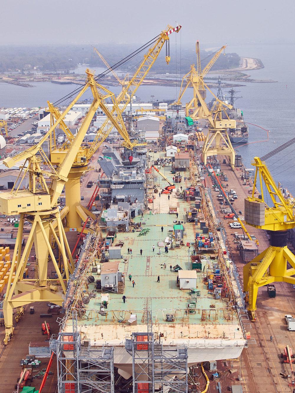 The Future USS Tripoli, Ingalls Shipyard, Pascagoula, Mississippi