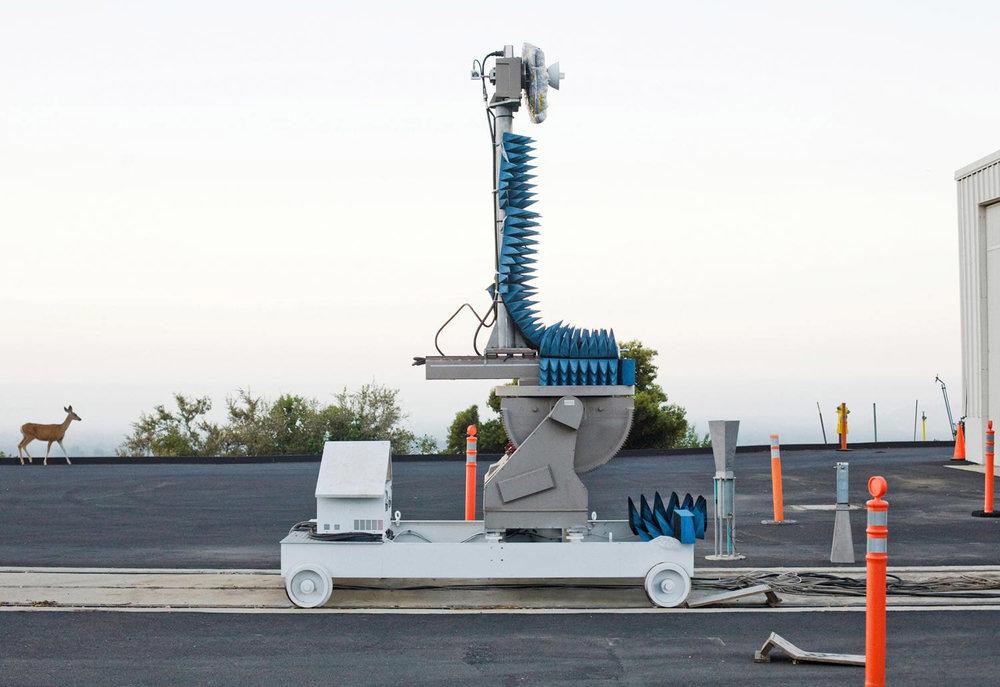 A deer and radar testing device at JPL