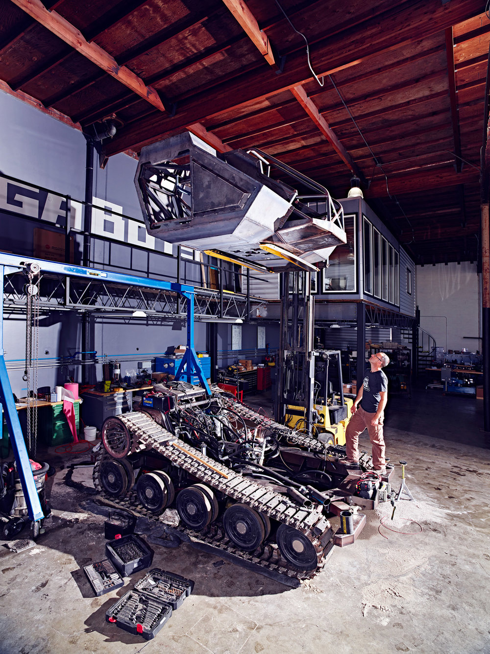 MegaBots Headquarters, Oakland, California, 2016