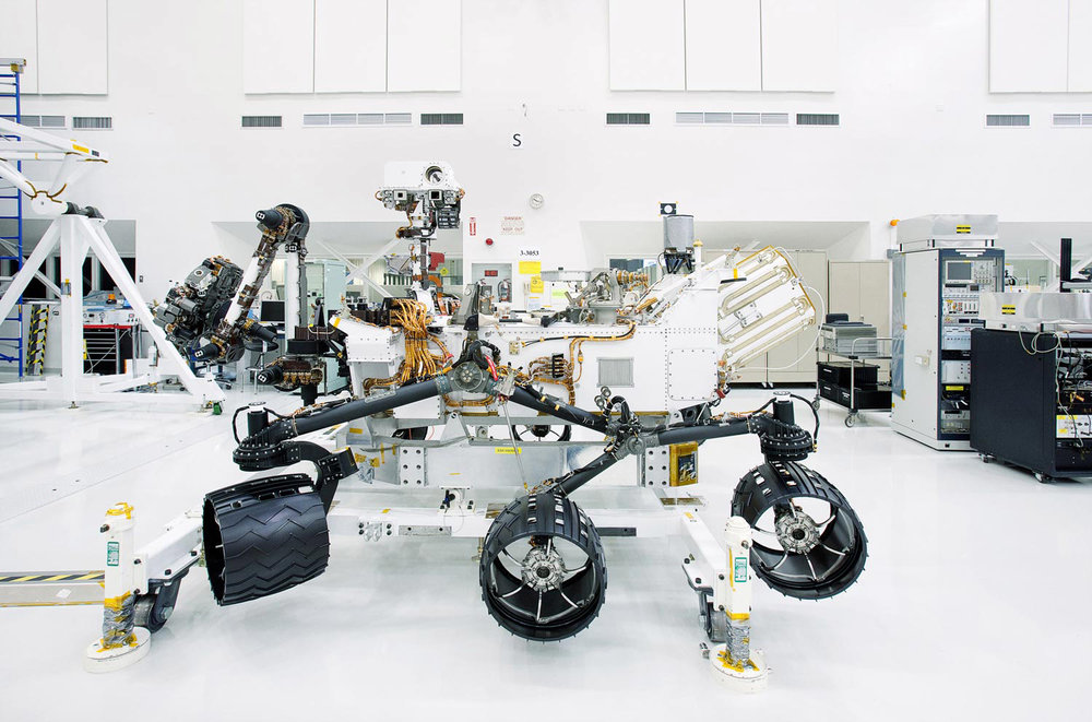 Mars Rover Curiosity, Assembly Room, NASA Jet Propulsion Lab, Pasadena, California, 2009