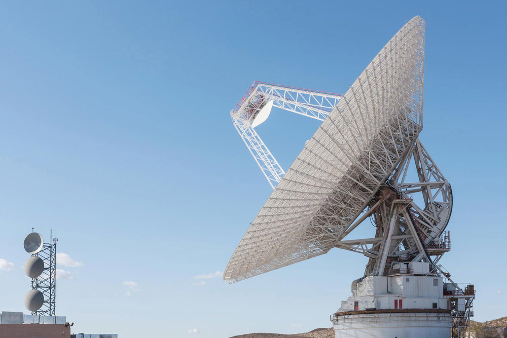 The Mars Antenna at the Goldstone Observatory in the Mojave Desert