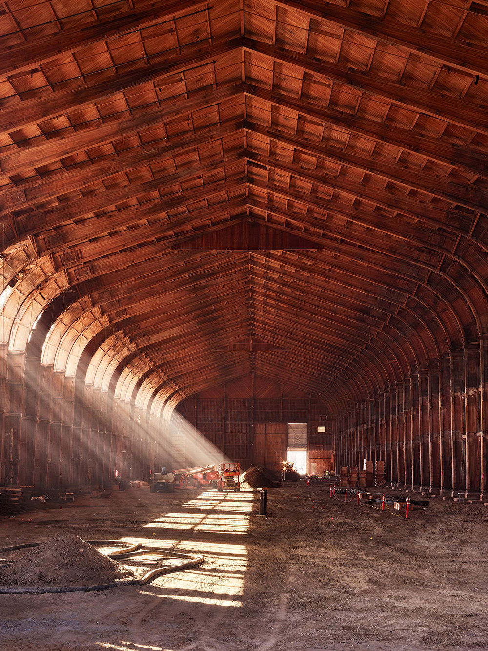 Spruce Goose Hanger being remodeled into a Google Campus