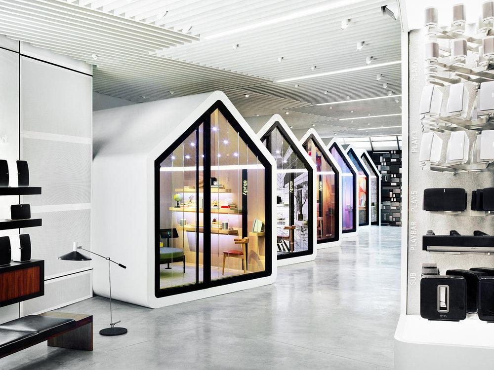 The new SoHo showroom of Sonos. New York, NY