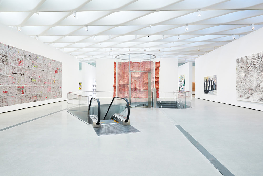 Third floor gallery of The Broad, Los Angeles