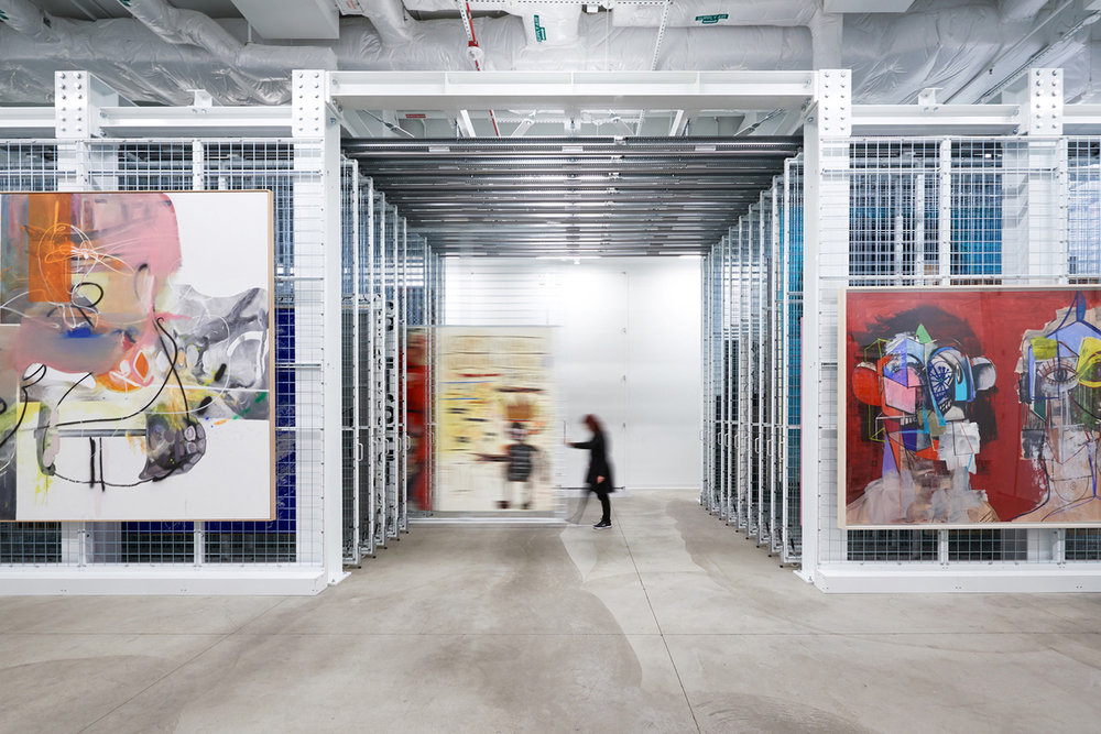 Art storage room at The Broad; Los Angeles