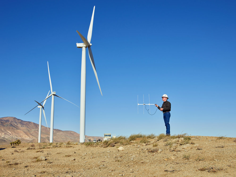 Scanning for Condors, Tehachapi Wind Resource Area, Kern County, California, 2018