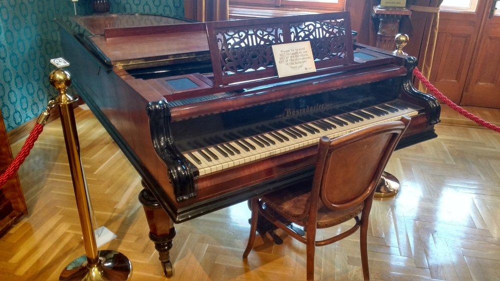 De Bösendorfer-vleugel waar Liszt les op gaf