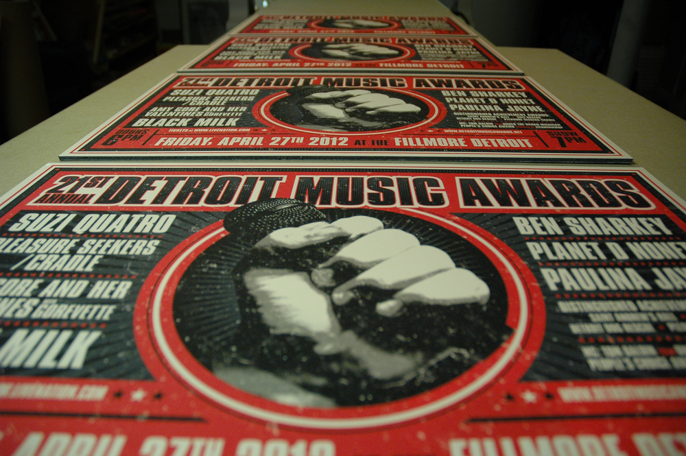 Detroit Music Awards Poster