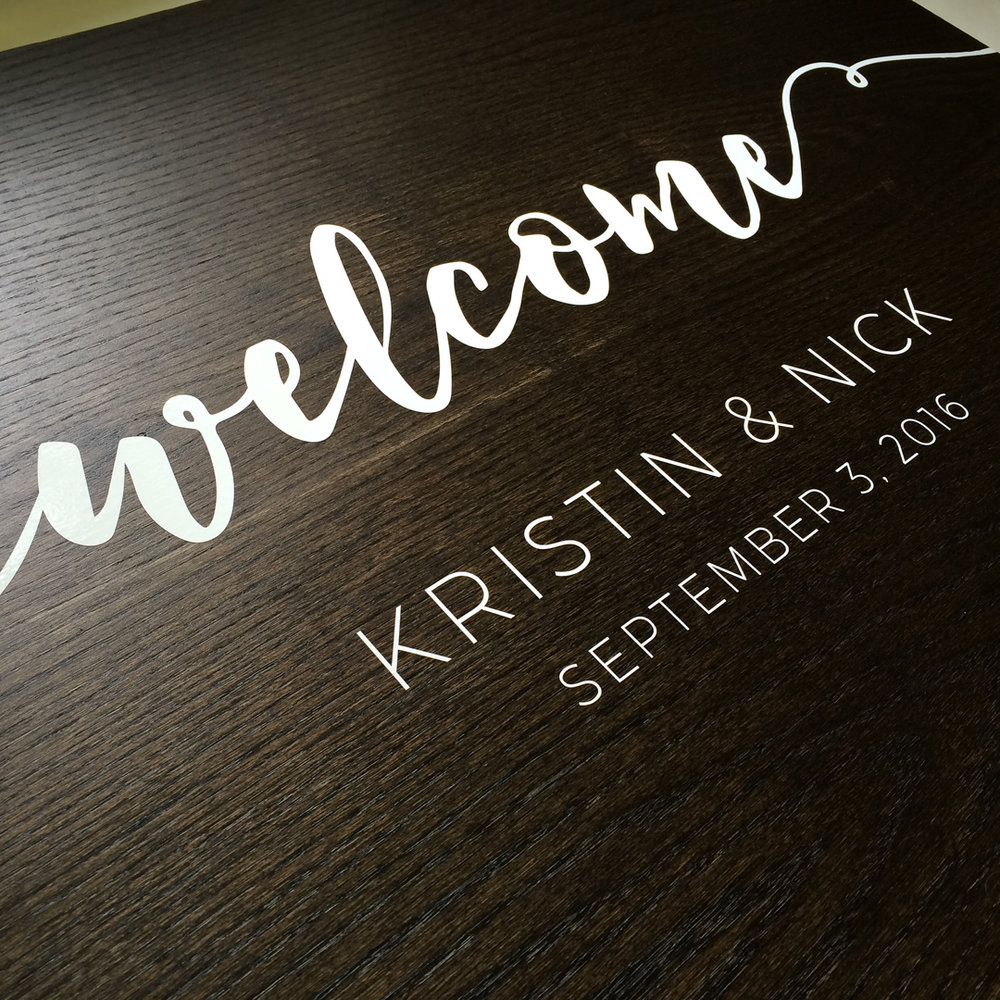 Custom Wood Panel - Wedding Decor