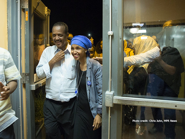 Ilhan and her dad on election night. Click this link to see the whole album of photos from Tuesday night.