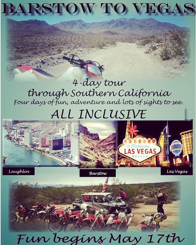 Join us in May as we gear up and ride through Southern California. Many sights to see and many trails to ride. Call us today @ 951-687-0808 to book your spot.