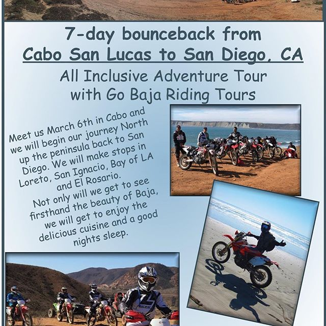 We just had a last minute cancellation for one of our UTV's on our Cabo bounceback. This gives you a great opportunity to jump in @ the BEST PRICE ever offered!! You must arrive in Cabo on March 6th by 3:30PM to start this lifetime adventure!  Please call 951-687-0808 for details on this amazing discounted offer.