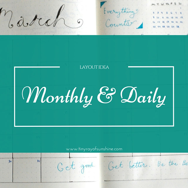 Layout Idea Monthly Amp Daily Tiny Ray Of Sunshine