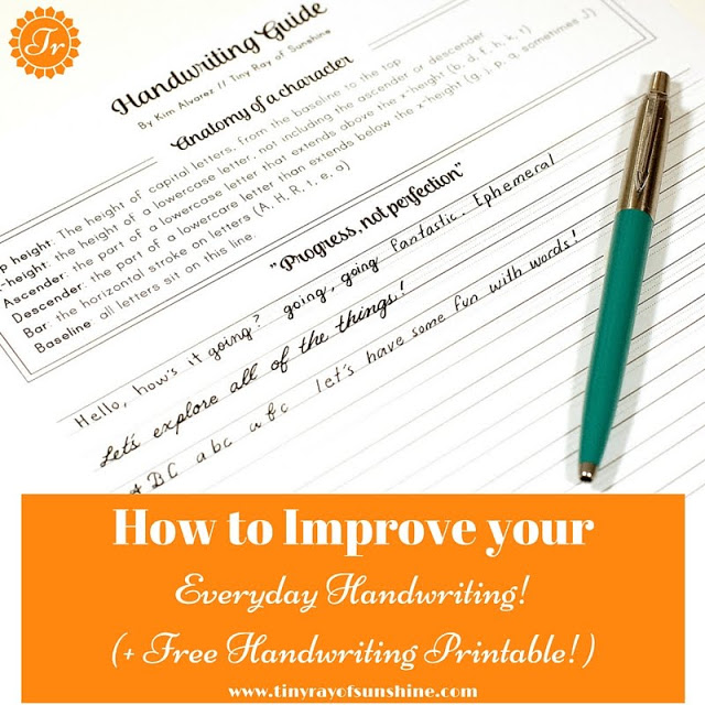 How To Improve Your Everyday Handwriting Free Handwriting