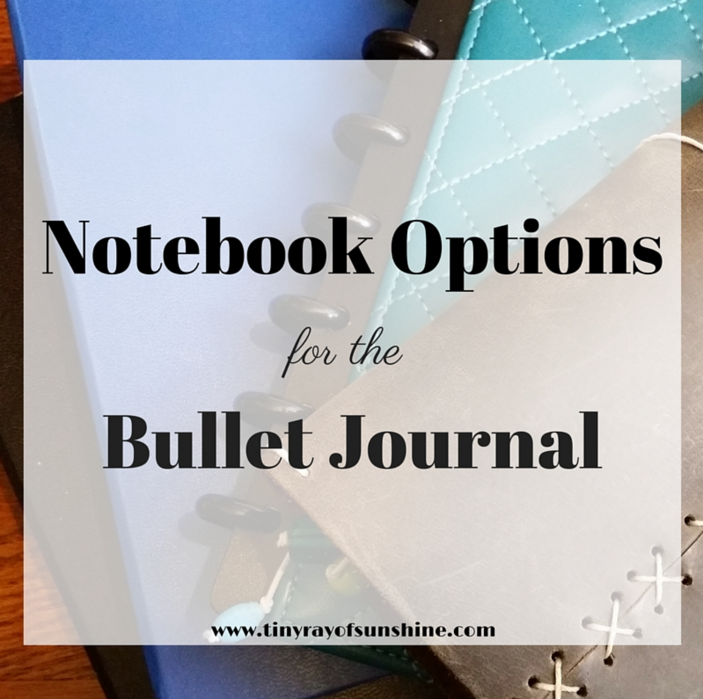 notebook options for the bullet journal