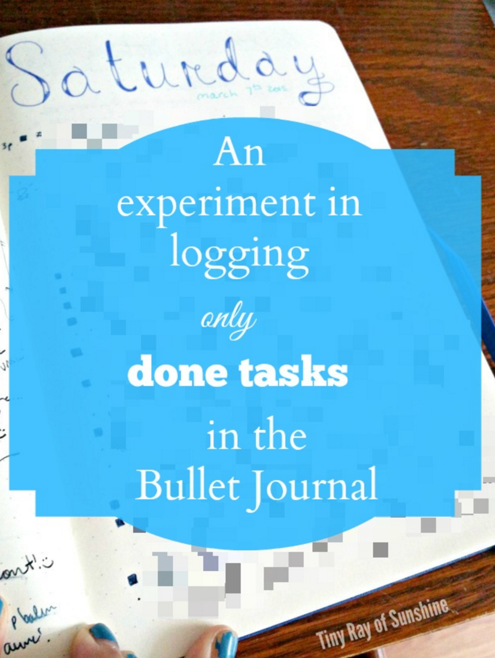 an experiment in logging only done tasks in the bullet journal