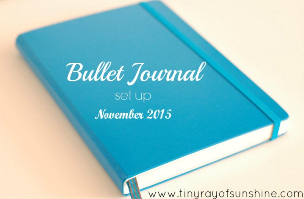 Bullet Journal set up November 2015