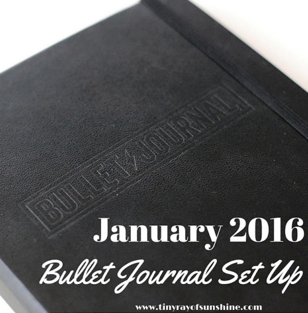 january 2016 bullet journal set up