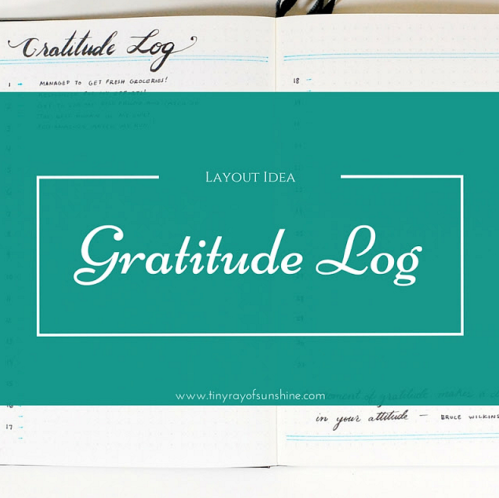 layout idea: gratitude log