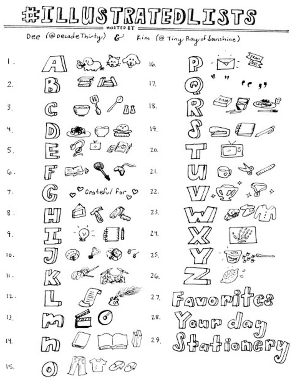illustrated lists challenge