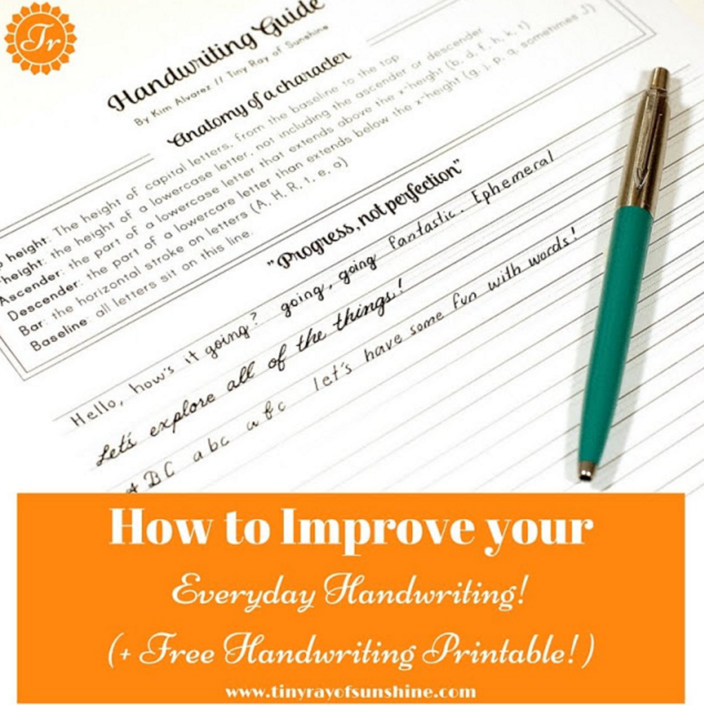 how to improve your everyday handwriting!