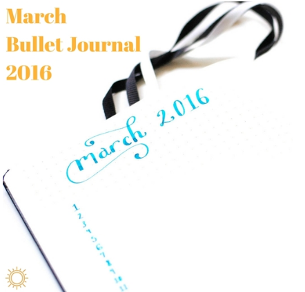 march bullet journal 2016