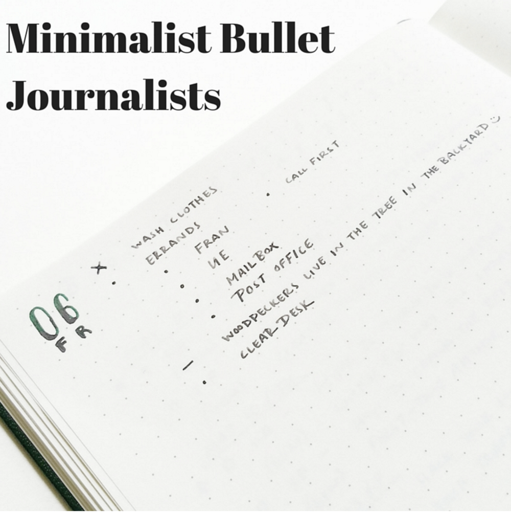 minimalist bullet journalists