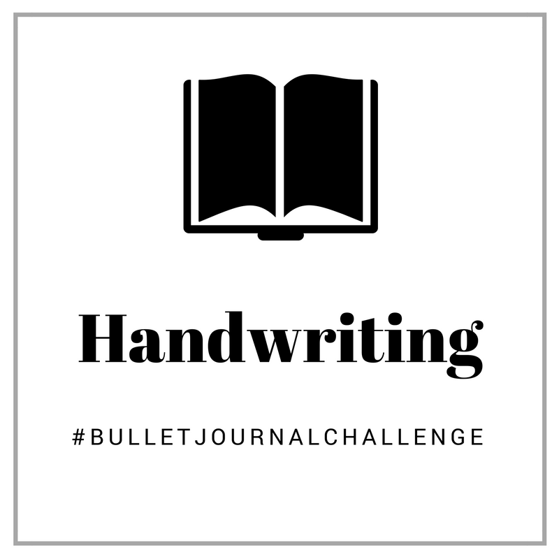 Handwriting #BulletJournalChallenge