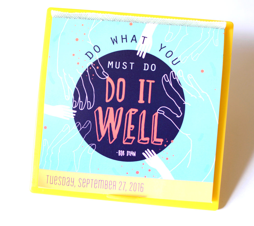 Today is going to be a great day desk calendar - 2016 | 2017